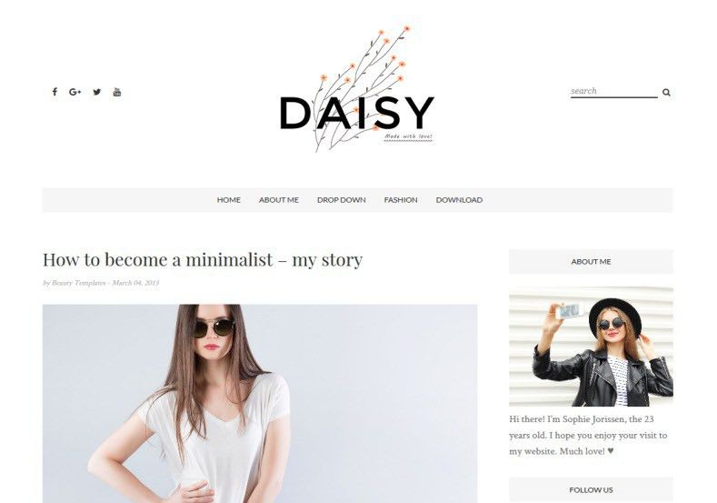 Daisy Clean Blogger Template • Blogspot Templates 2017