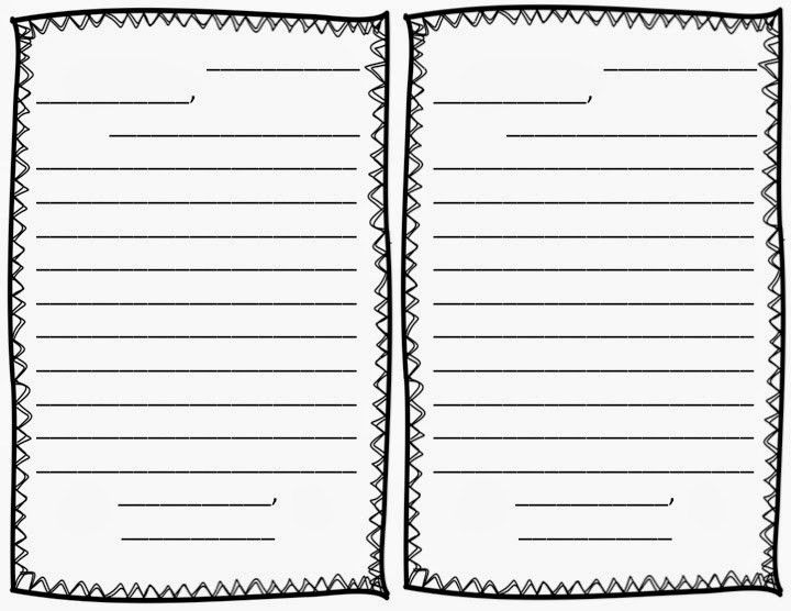 FREE Friendly Letter Writing Template with scaffolding for ...