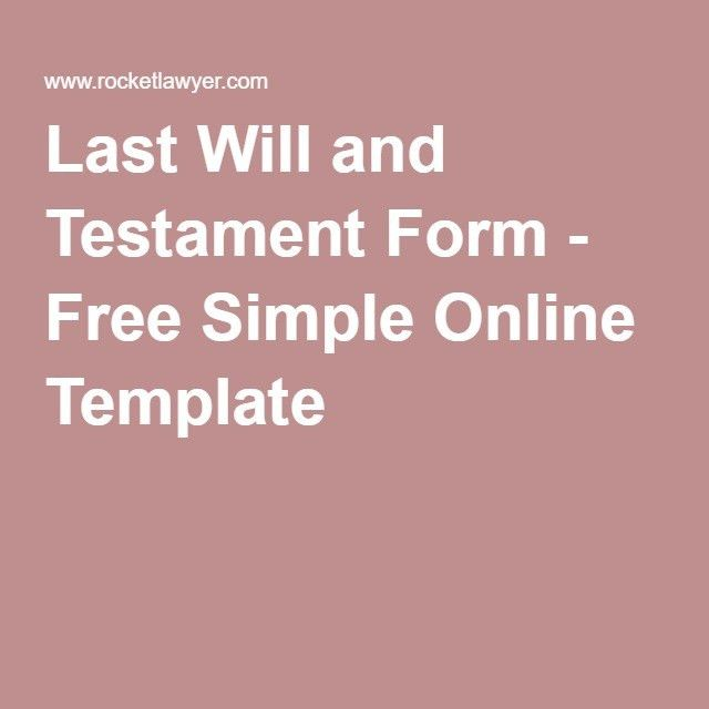 Write Your Own Last Will and Testament | Organizing, Binder and ...