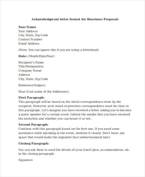 Proposal Acceptance Letter. Samples Of Acceptance Letter .