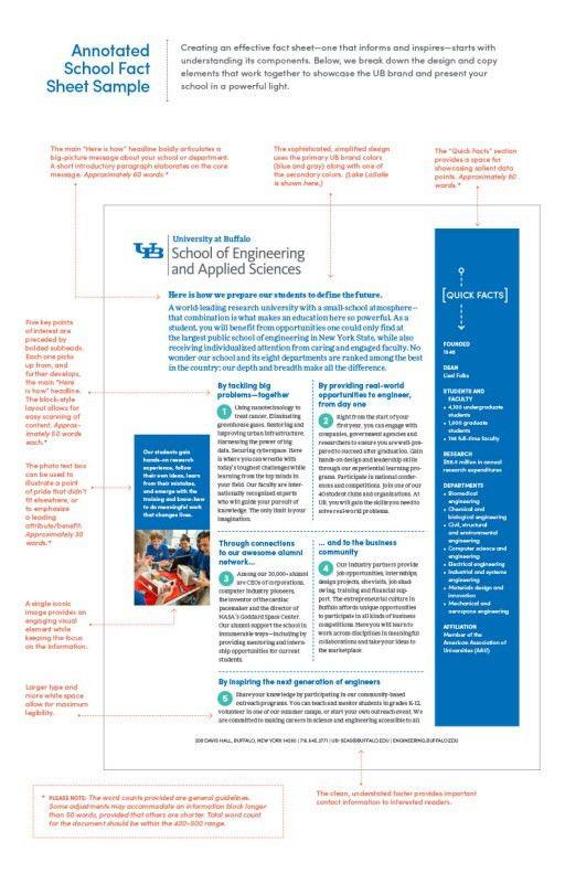 School Fact Sheets - Identity and Brand - University at Buffalo