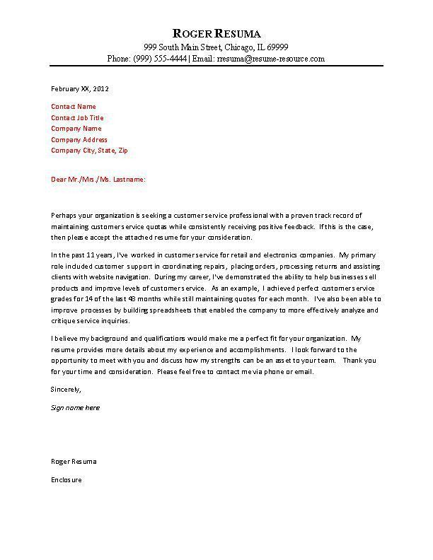 customer service cover letter samples resume genius. best cover ...