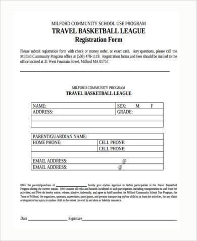 Sample Travel Registration Forms - 8+ Free Documents in Word, PDF