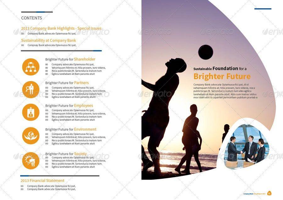Annual Report Design Template Vol.1 by thinqueber | GraphicRiver