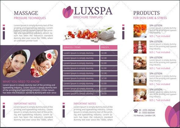 Medical Spa Brochure Template by BloganKids | GraphicRiver