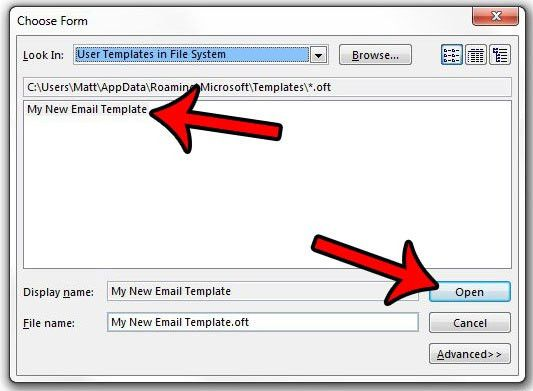 How to Create an Email from a Template in Outlook 2013 - Solve ...
