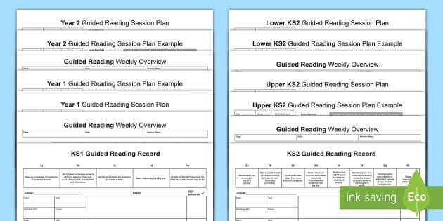 Guided Reading Planning Templates - guided reading, reading