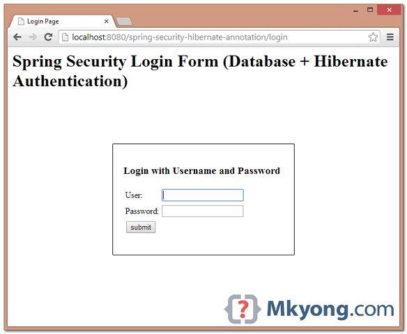 Spring Security + Hibernate Annotation Example