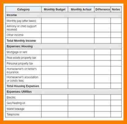 Sample Household Budget. Home-Budget-Template Budget Template - 9+ ...