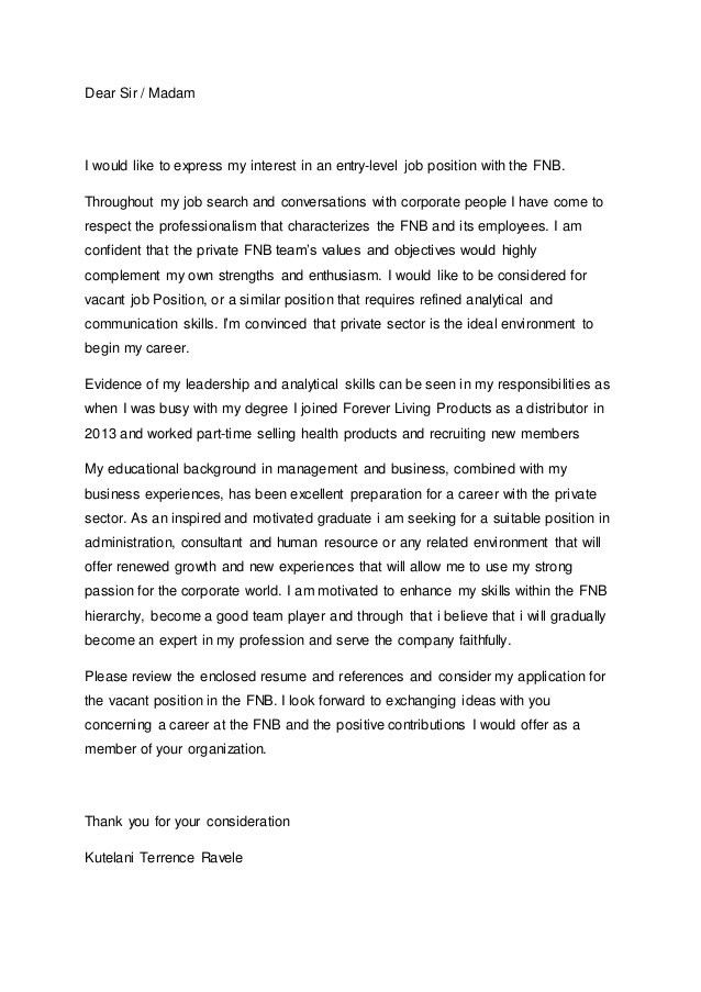 Cover letter- linkedin