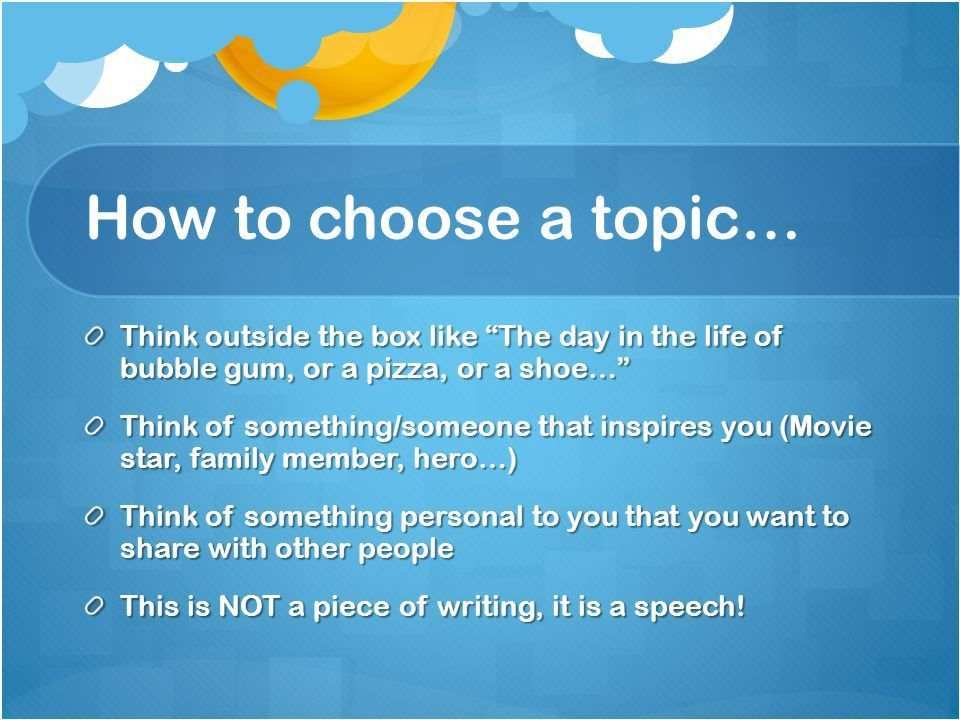 How to Write a Speech For kids. Topic Should interest you Should ...
