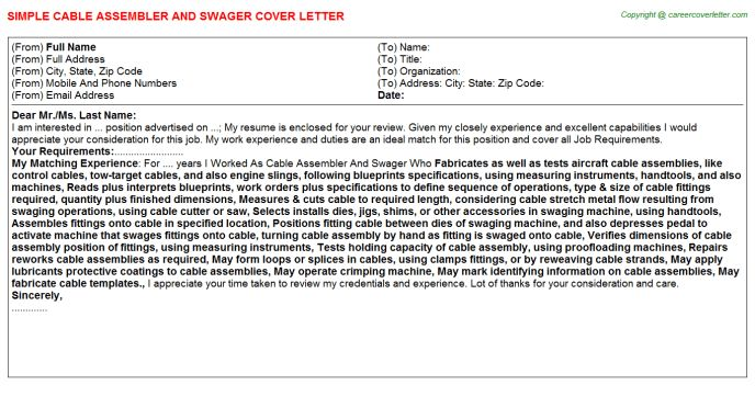 Time Warner Cable Cover Letters