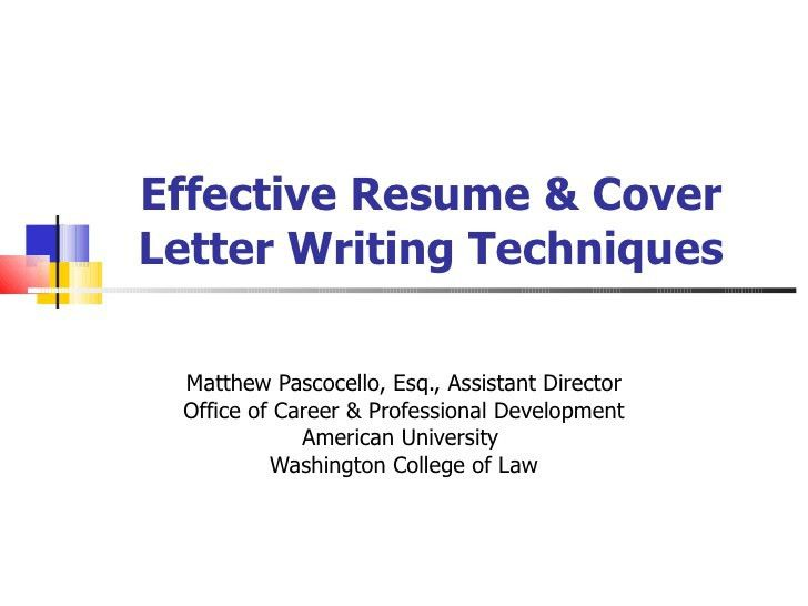 Writing An Effective Cover Letter