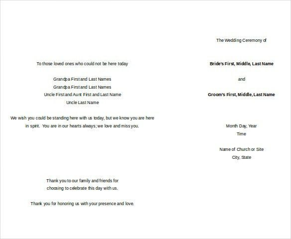 18+ Free Wedding Templates in Microsoft Word Format Download ...
