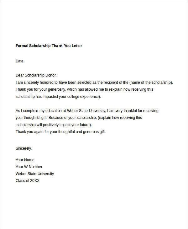 Formal Thank You Letter - 10+ Free Word, PDF Documents Download ...