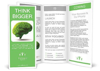 The human brain is green Brochure Template & Design ID 0000010608 ...