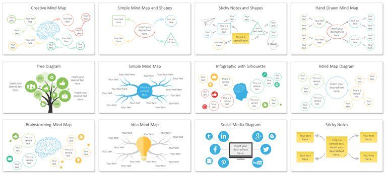 Mind Map PowerPoint Template - PresentationDeck.com