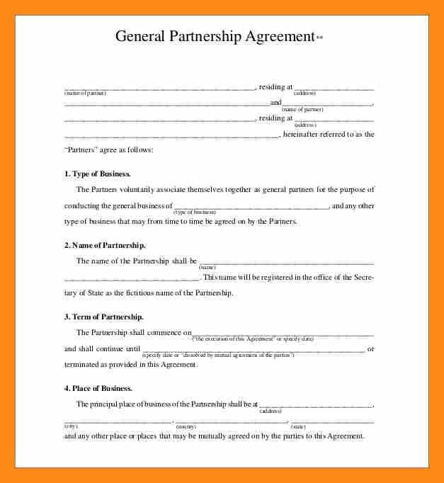 9+ partner agreement template | actor resumed