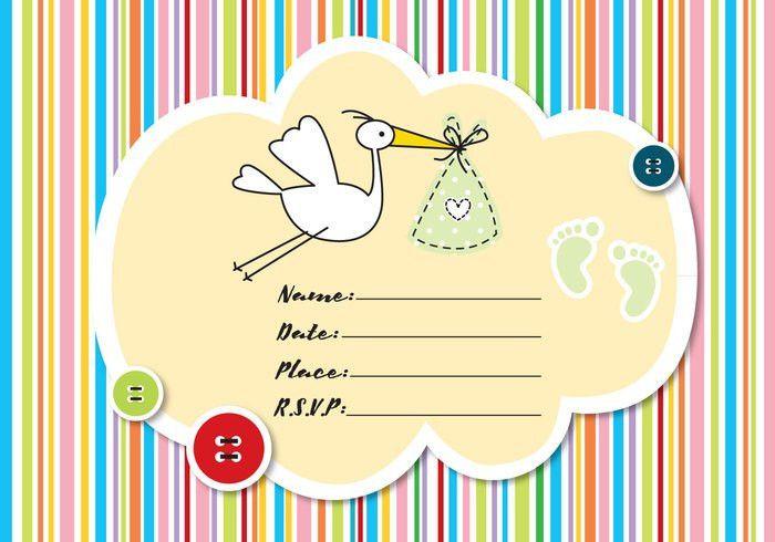 Baby Shower Invitation - Download Free Vector Art, Stock Graphics ...