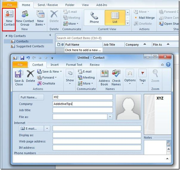 A User Guide On Outlook 2010 Address Book Contacts