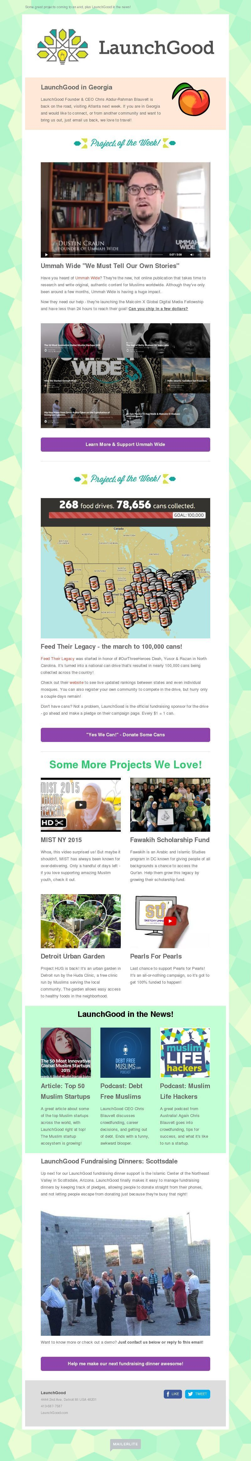 Nonprofit Newsletter Design Gallery and Examples | MailerLite