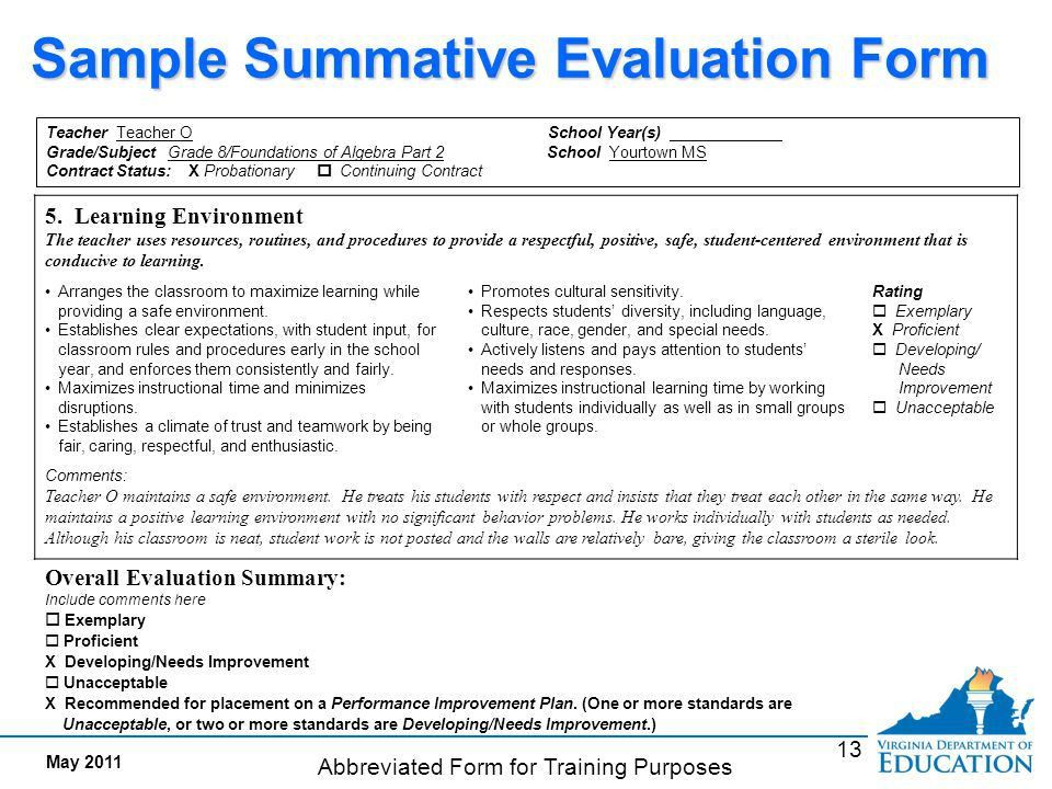 Interim Evaluation Documents evidence of meeting standards - ppt ...