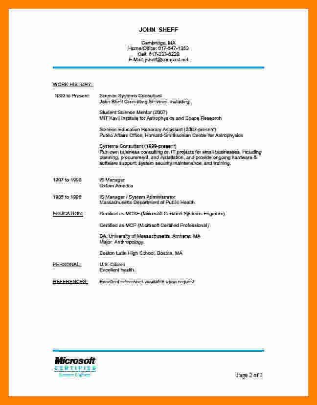 Professional References Template. 6 resume professional references ...