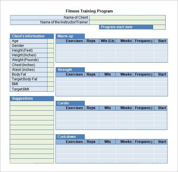 Training Plan Template. Sample Business Plan Personal Training ...