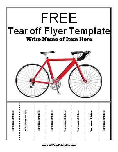 tear off flyer template word