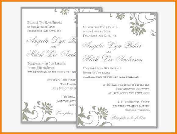 7+ free wedding invitation templates for word | artist resume