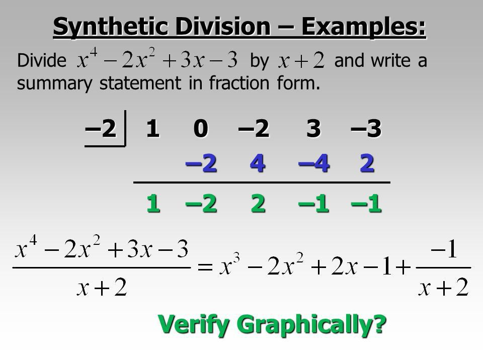 Plowing Through Sec. 2.4b with Two New Topics: Synthetic Division ...