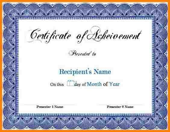 Award Certificates Word. Word Certificate Award Certificates Word ...