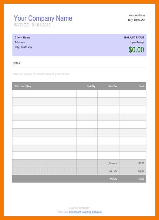 7+ blank bill format in word | resume holder