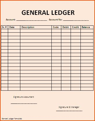 7+ ledger template - bookletemplate.org