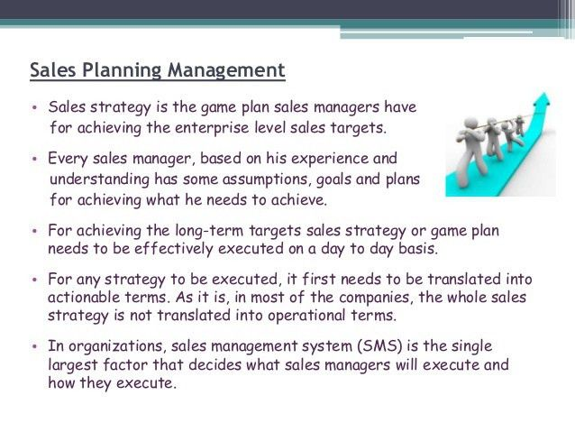 Sales Management Planning