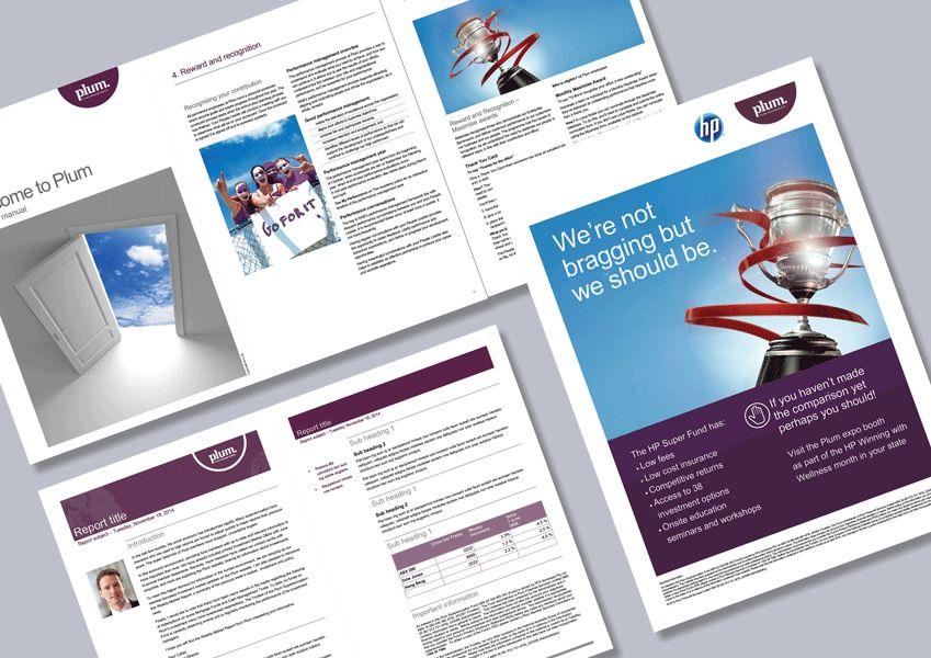 Superannuation report, manual and poster Word templates - Cordestra