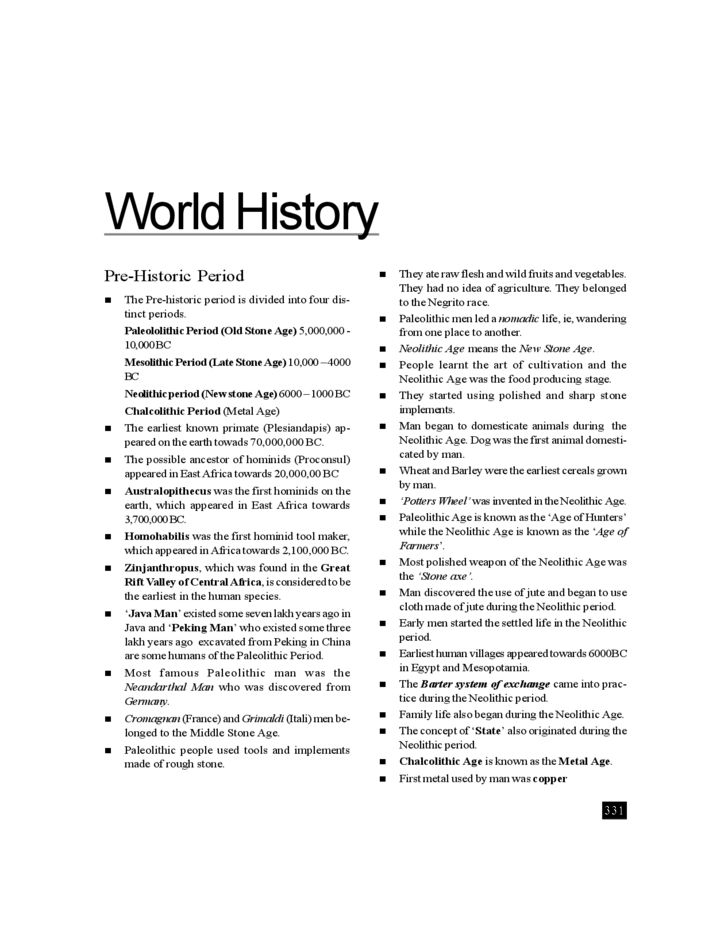 Template World History Timeline Free Download