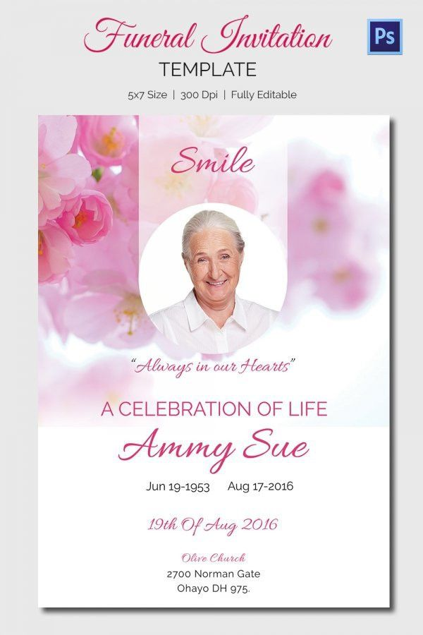 Funeral Announcement Template | Template Design