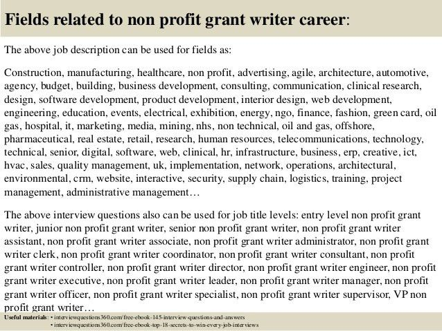 Grant Writer Job Description Sample - Resume CV Cover Letter