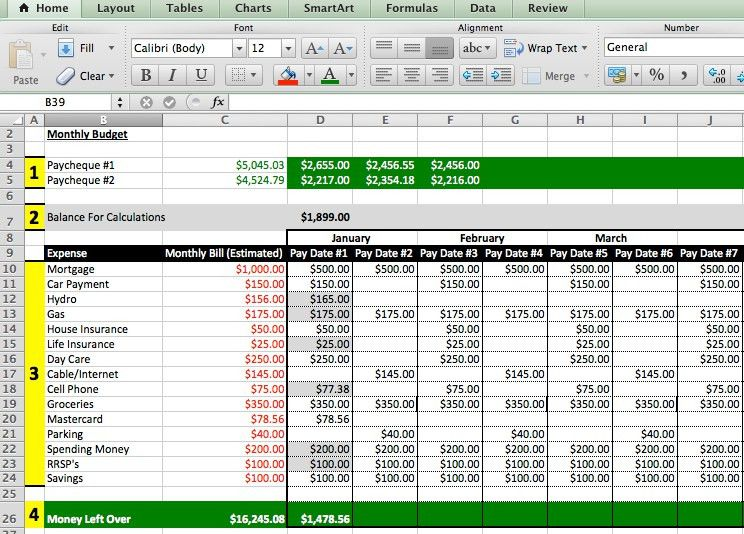 sample excel expense spreadsheet - Template