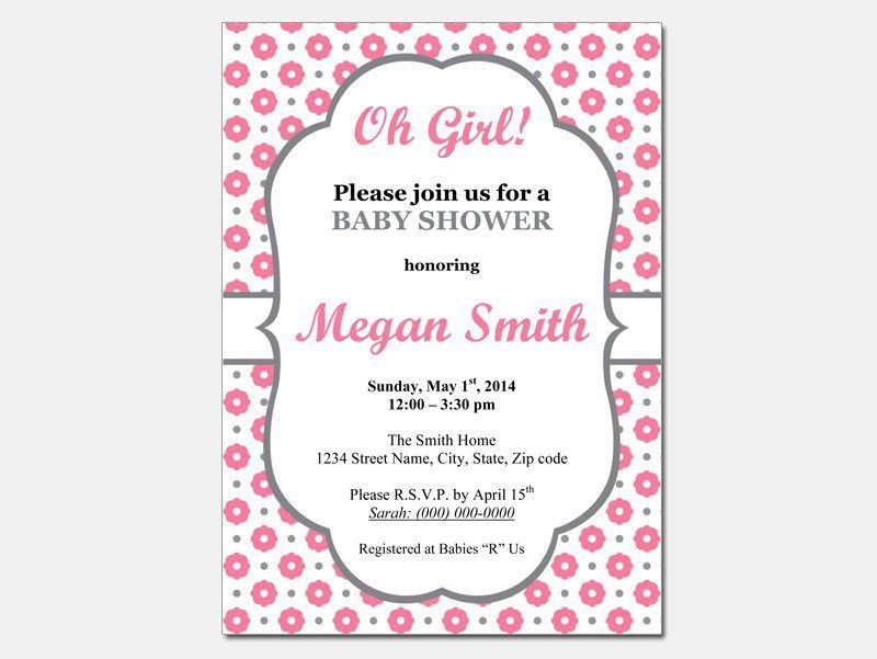 Free Baby Shower Invitation Templates – gangcraft.net