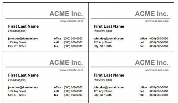 free printable business card template free printable business card ...