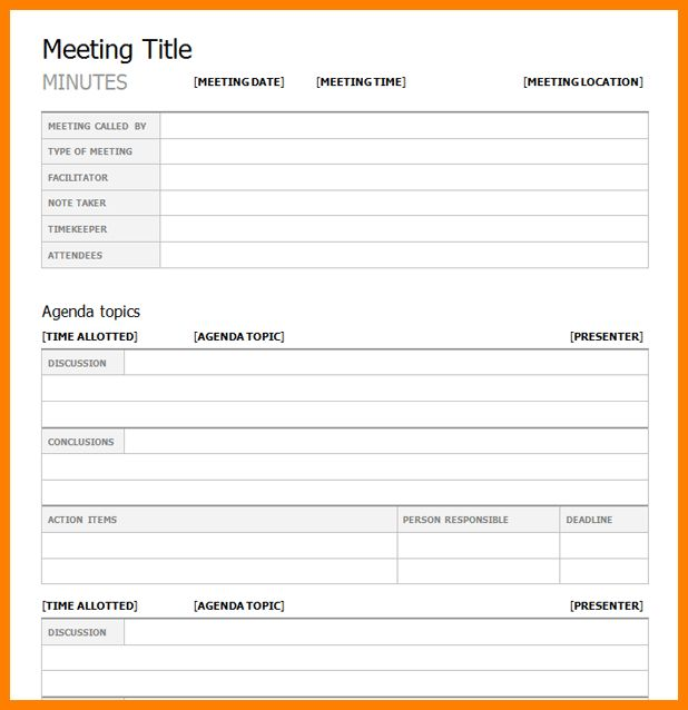10+ meeting minutes template microsoft word | farmer resume
