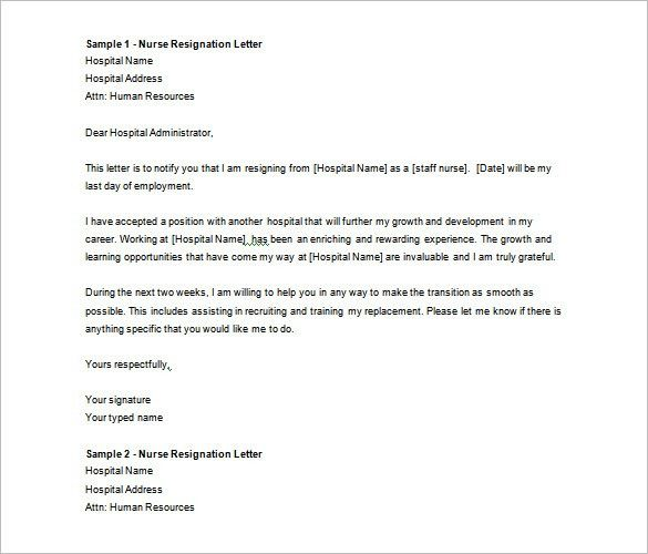 Sample Resignation Letter. The 25+ Best Sample Of Resignation ...
