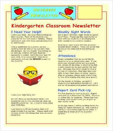 Classroom Newsletter Template - 9+ Free Word, PDF Documents ...