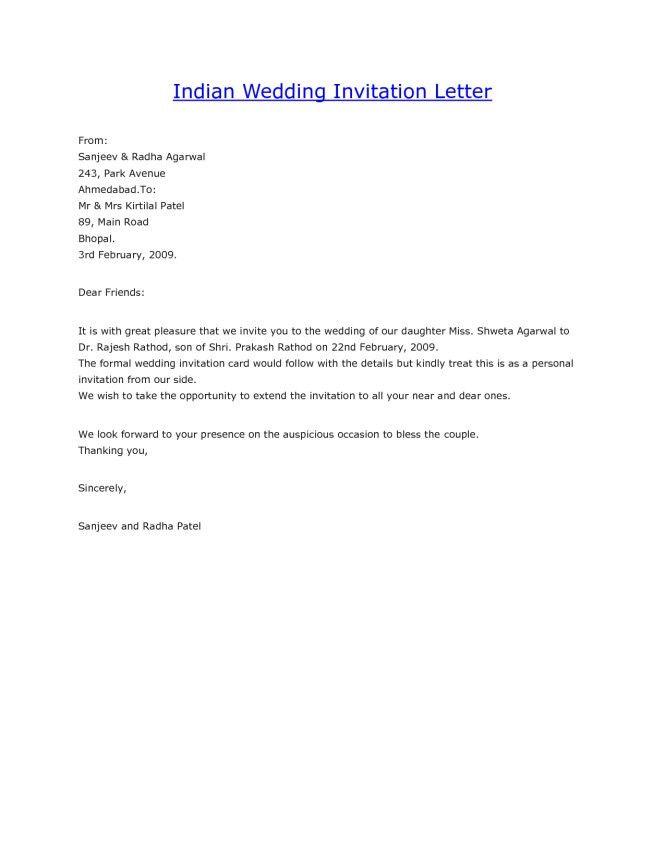 simple invitation letter : Cogimbo.us