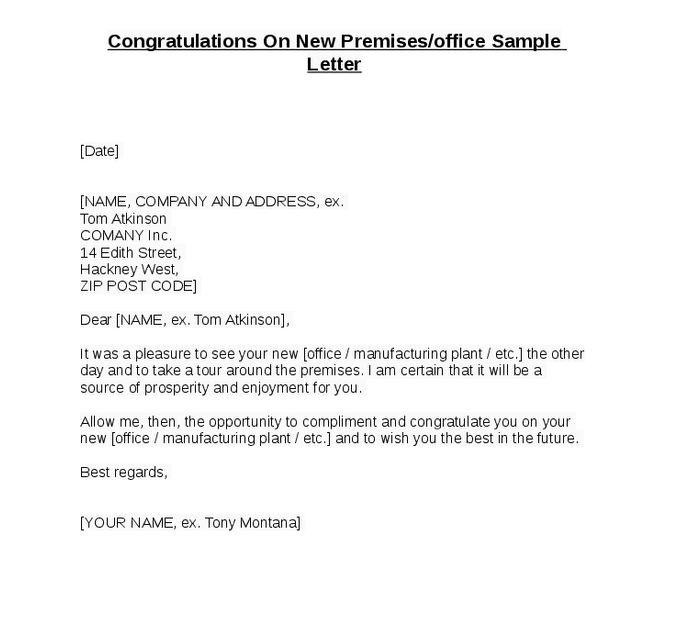 Congratulation Letter - Writing Professional Letters