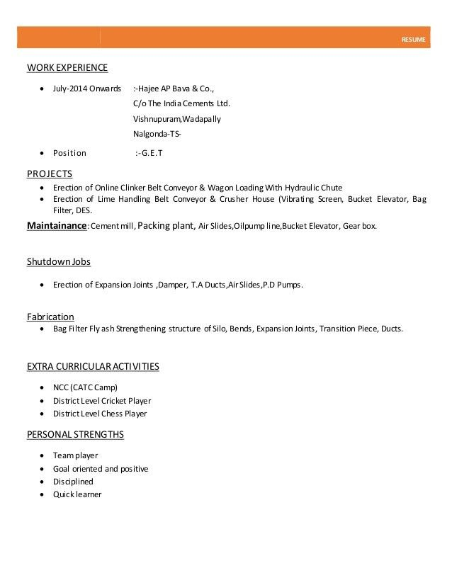 normal resume format normal resume format pdf download printable