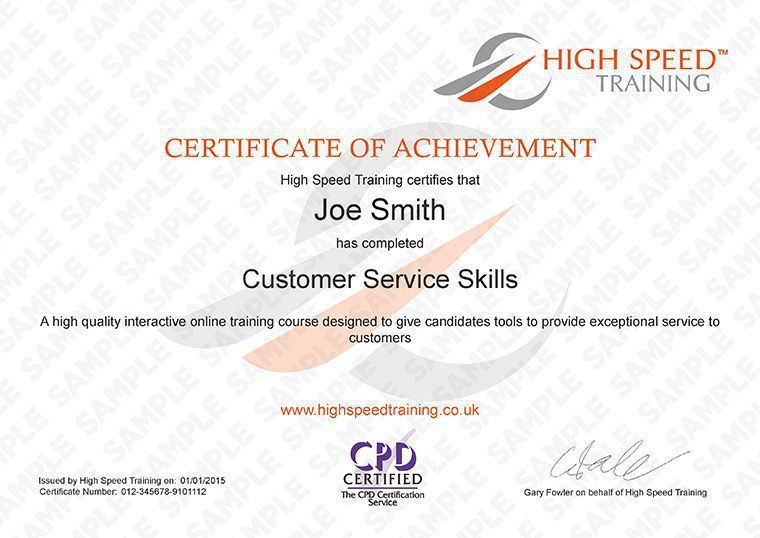 Customer Service Training Courses, Online Certification