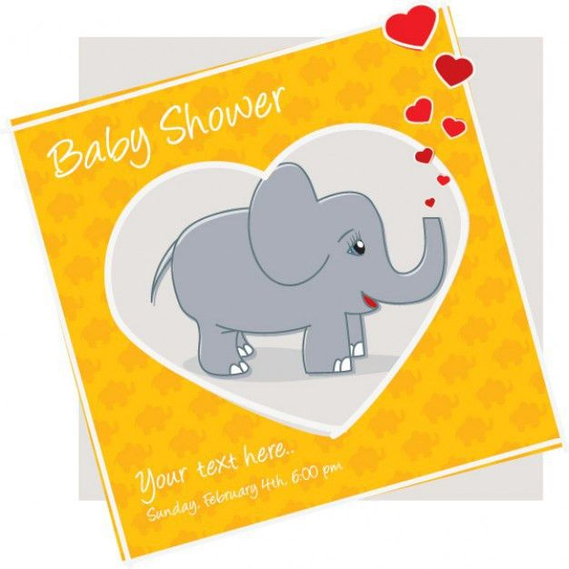 Baby shower invitation card - vector eps Vector | Free Download